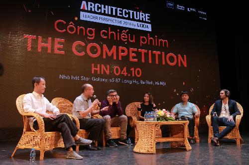 Buổi thảo luận đi sâu vào những suy nghĩ, cảm xúc củadiễn giả sau khi xem xong bộ phim,cũng như những quan điểm về quá trình hành nghề kiến trúc, cách vận hành những cuộc thi kiến trúc trong nước.