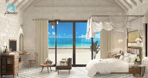 Phối cảnh biệt thự mặt tiền biển Pérolas Villas Resort tại khu du lịch quốc tế Hòn Lan, Bình Thuận