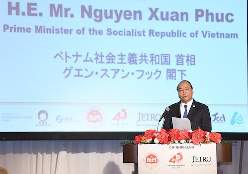 Thủ tướng tham dự hội nghị xúc tiến đầu tư Việt Nam - Nhật Bản ngày 10/10. Ảnh: VGP