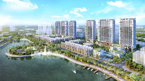 Phối cảnh dự án Khai Sơn Town. Công ty Cổ phần Bất động sản Thế Kỷ (Cenland)