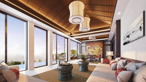 Không gian sống mang phong cách hoàng gia Huế của biệt thự biển Banyan Tree Residences.