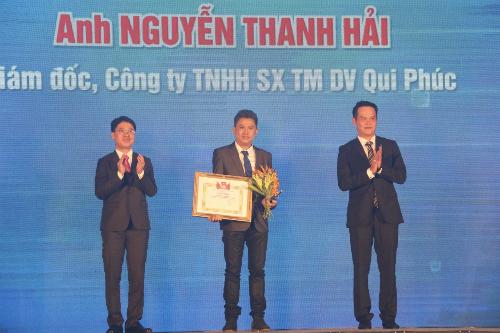 Ông Nguyễn Thanh Hải nhận giải thưởng Doanh nhân trẻ xuất sắc lần 10 năm 2018 tối 10/10
