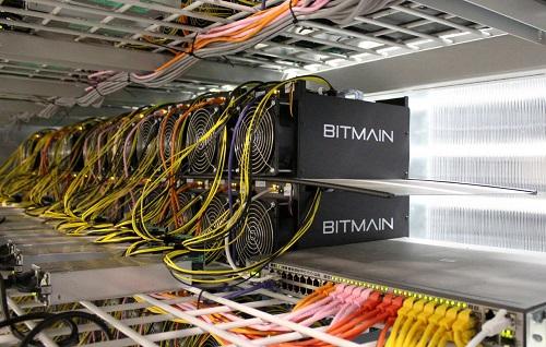 Bộ máy đào tiền ảo của hãng Bitman. Ảnh: Reuters