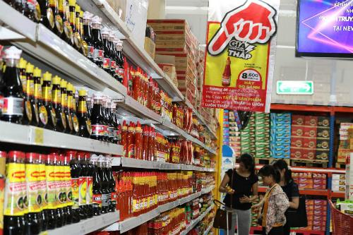 Quầy bán gia vị tại một siêu thị ở TP HCM. Ảnh: Thanh Tân