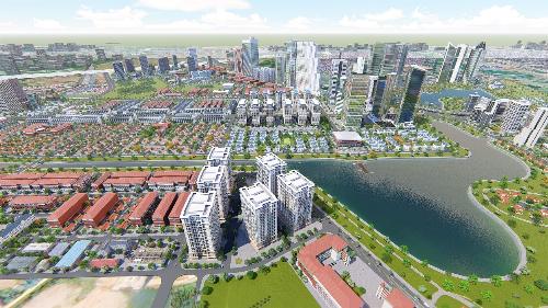 Khu đô thị Thanh Hà rộng hơn 400 ha, nằm tại vị trí đặc địa trên tuyến đường trục Nam Hà Nội.