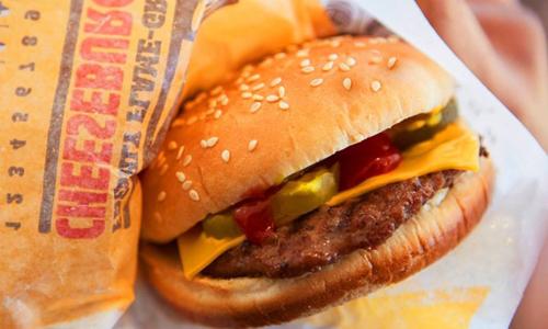 Sản phẩm bánh burger của Burger King. Ảnh: BI