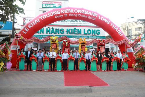 Lễ khai trương phòng giao dịch Kienlongbank Long Thành (Đồng Nai).