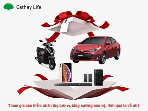 Cơ hội trúng ô tô Toyota Vios dịp 10 năm thành lập Cathay Life Việt Nam