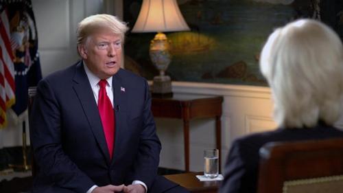 Tổng thống Mỹ - Donald Trump trong cuộc phỏng vấn hôm qua. Ảnh: CBS
