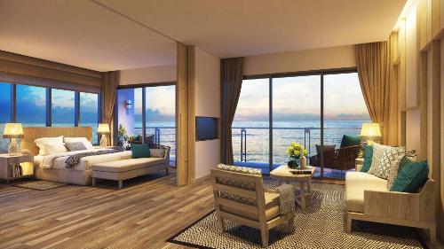 Thiết kế căn góc một phòng ngủ, dự án Mélia Hồ Tràm.