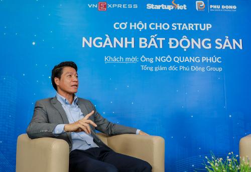 CEO Phú Đông Group nhìn nhận xây nhà cho giới trẻ là phân khúc mà các startup địa ốc có thể phát triển. Ảnh: Thành Nguyễn.