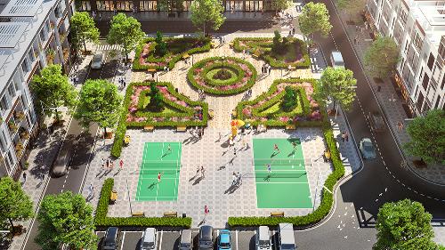 T&T Phố Nối mang tới cho cư dân cuộc sống viên mãn và đầy đủ với hơn 7000m2 công viên cây xanh và tiện ích