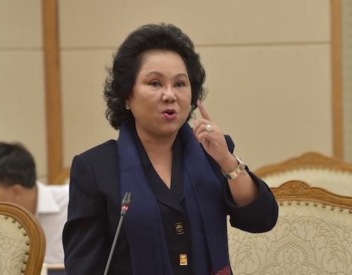 Bà Lý Thị Chi - Chủ tịch Hội Lương thực thực phẩm TP HCM. Ảnh: Nhật Bắc