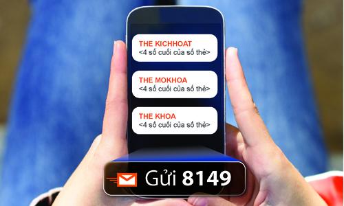 Sacombank triển khai kích hoạt thẻ thanh toán bằng tin nhắn
