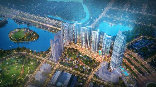 Phối cảnh tổng thể dự án Eco Green Saigon, quận 7, TP HCM.