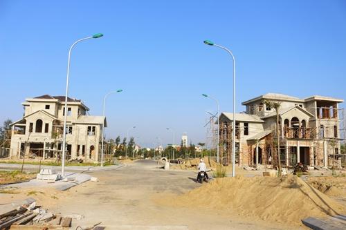 Một góc trong dự án khu nhà ở thương mại do First Real đầu tư tại Quảng Bình.
