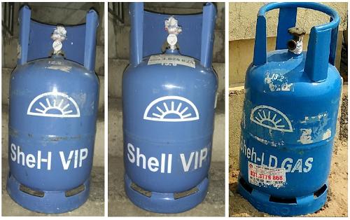 Từ trái sang phải: Bình gas mang nhãn hiệu Shel-l VIP, Shell VIP và Sheh-LD vi phạm quyền sở hữu trí tuệ. Hoạt động sản xuất, kinh doanh các sản phẩm mang dấu hiệu xâm phạm này có thể cấu thành hành vi cạnh tranh không lành mạnh.