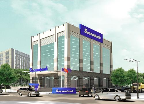 Phối cảnh chi nhánh Sacombank Lào Cai.