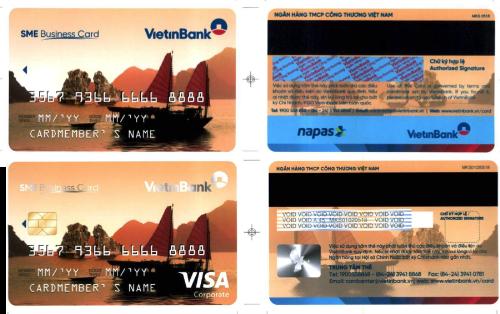Thẻ tín dụng SME giải pháp thanh toán và quản lý tài chính cho doanh nghiệp.Liên hệ: Phòng Nghiên cứu thị trường và Phát triển sản phẩm - Trung tâm Thẻ, điện thoại: 024.35586666 (máy lẻ224).