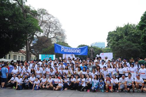 Nhân viên Panasonic tham dự ngày hội.
