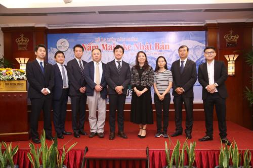 Đại diện Công ty Yukiguni Maitake và Công ty Sản xuất Thương mại và Dịch vụ Tú Phượng tại sự kiện giới thiệu sản phẩm nấm nấm Maitake Nhật Bản tại TP HCM.
