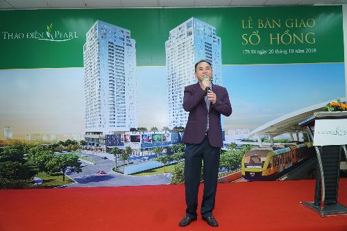 Ông Nguyễn Văn Đồi Thành viên HĐQT, Giám đốc điều hành CTCP Địa Ốc và Xây Dựng SSG2, Chủ đầu tư Thảo Điền Pearl