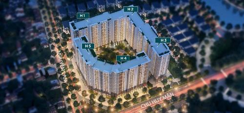 Nhà ở xã hội Hope Residences có quy mô 5 tòa cao 21 tầng nổi, 2 tầng hầm.