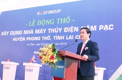 Tiến sĩ Nguyễn Việt Cường - Chủ tịch Tập đoàn Kosy phát biểu tại sự kiện.