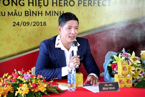 Bình Minh cho biết đã dùng thử một liệu trình Hero Perfect và thấy sức khỏe cải thiện.