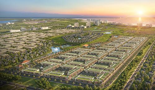 Phối cảnh tổng quan khu nhà phố Para Grus trong dự ánKN Paradise.