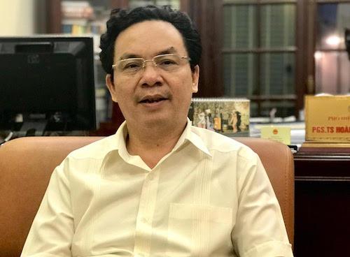 Ông Hoàng Văn Cường - Phó hiệu trưởng Trường Đại học Kinh tế Quốc dân, Đại biểu Quốc hội Hà Nội. Ảnh: H.Thu