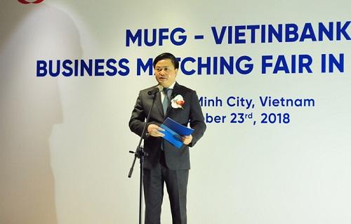 Ông Lê Đức Thọ - Tổng Giám đốc VietinBank phát biểu tại Hội nghị