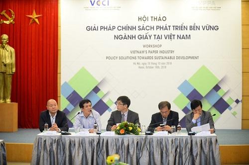 Hội thảo Giải pháp chính sách phát triển bền vững ngành giấy tại Việt Nam tổ chức ngày 16/10.