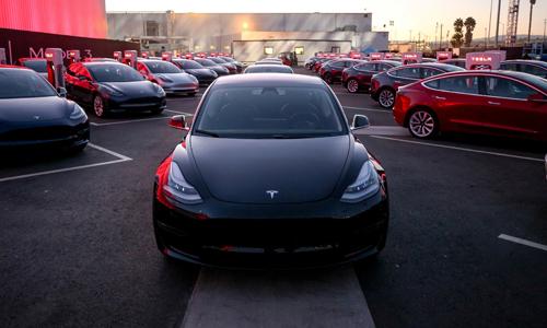 Mẫu xe Model 3 của Tesla. Ảnh: WSJ