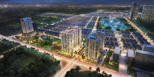 Phối cảnh dự án căn hộ Anland Premium trong khu đô thị Dương Nội.