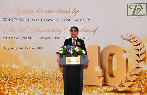 Ông Nghiêm Xuân Thành - Ủy viên BCH Đảng bộ Khối Doanh nghiệp Trung ương, Bí thư Đảng ủy, Chủ tịch HĐQT Vietcombank phát biểu