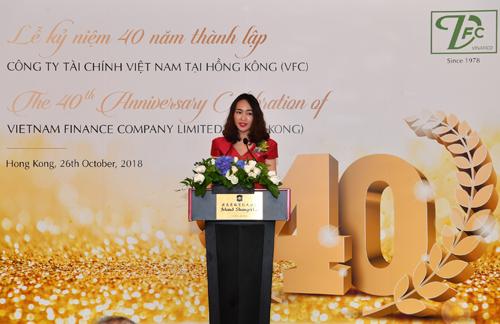 Bà Nguyễn Thị Kim Oanh Phó Tổng Giám đốc Vietcombank, Chủ tịch HĐQT VFC phát biểu