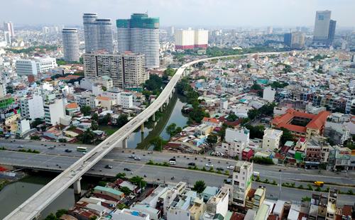 Tuyến metro đầu tiên của TP HCM. Ảnh: Quỳnh Trần
