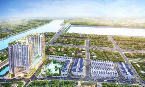 Phối cảnh khu phức hợp, biệt thự Green Star Sky Garden của chủ đầu tư Hưng Lộc Phát.