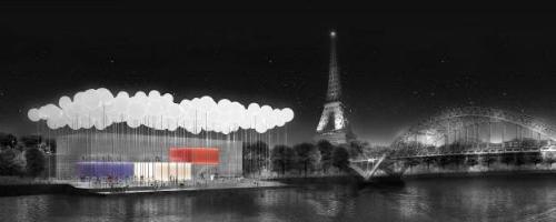 Thời gian qua, MPN + Partners để lại nhiều dấu ấn qua các tác phẩm Nhà hàng bên sông Seine (Paris, Pháp), Bảo tàng chiến tranh quốc gia (New Delhi, Ấn Độ) và DomestiCity (Atlanta, Mỹ). Trong ảnh là phối cảnh nhà hàng ẩm thực lung linh bên bờ sông Seine. Không chỉ là một trong những thành phố xa hoa bậc nhất châu Âu, kinh đô ánh sáng Paris còn nổi tiếng nhờ vẻ đẹp lãng mạn và dịu êm. Để tôn vinh vẻ đẹp cùng chất lãng mạn bay bổng ấy, MPN + Partner xây dựng một không gian ẩm thực đầy mộng mơ trên những đám mây.