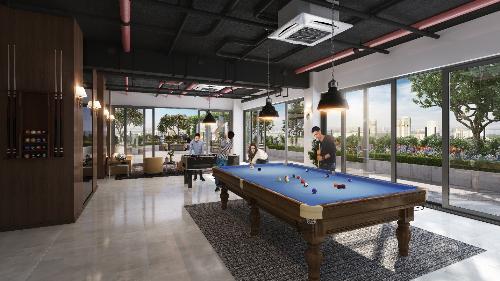 Phối cảnh minh họa khu dành cho cộng đồng trên tầng mái của dự án Rivera Park Hà Nội.