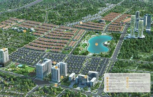 Phối cảnh khu đô thị Dương Nội.