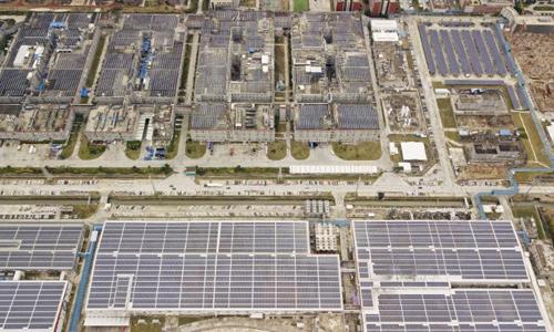 Tổ hợp sản xuất pin điện của CATL ở Ninh Đức, Trung Quốc. Ảnh: CNN