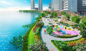 Công viên triệu đô bên trong khu Phú Mỹ Hưng Midtown