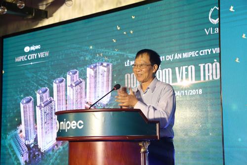 Ông Nguyễn Duy Tưởng, PTGĐ Công ty Cổ phần Hóa dầu Quân đội  Mipec phát biểu khai mạc tại buổi lễ
