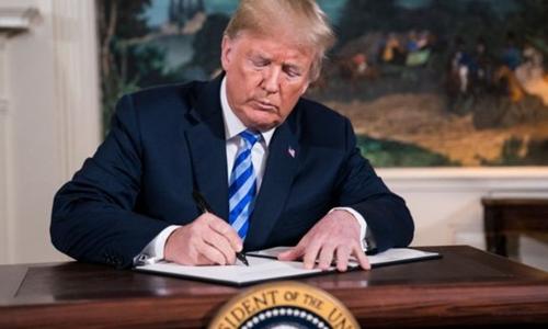 Tổng thống Mỹ - Donald Trumprút khỏi thỏa thuận hạt nhân hồi tháng 5. Ảnh: HEP