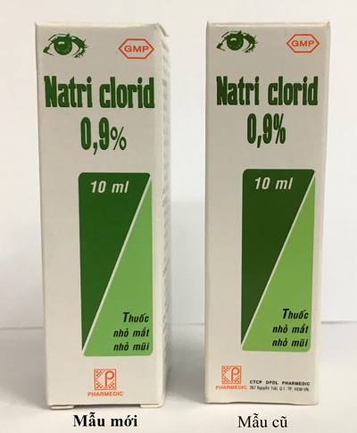 Pharmedic thay đổi mẫu mã sản phẩm Natri Clorid 0,9%