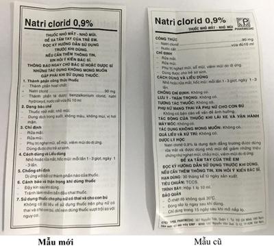 Pharmedic thay đổi mẫu mã sản phẩm Natri Clorid 0,9% - 5