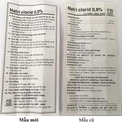 Pharmedic thay đổi mẫu mã sản phẩm Natri Clorid 0,9% - 6