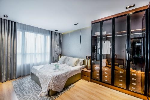Phòng ngủ sang trọng của căn hộ mẫu S4.